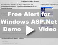 Free Alert Solution for ASP.Net Video