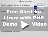 Free Alert Solution for PHP Video